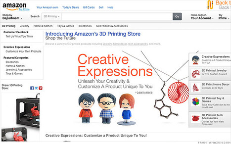 Amazon launches 3-D printing store | Italian Fablabs | Scoop.it