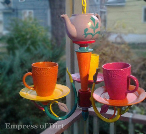 Dawn's Colourful Tea Time Chandelier | Empress of Dirt | Home Improvement and DIY | Scoop.it
