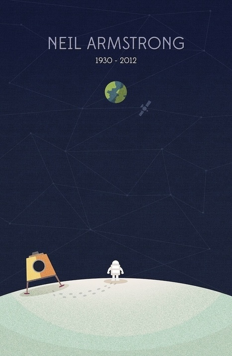 An Illustrative Tribute Dedicated to Neil Armstrong | Minimalistdesign | Scoop.it