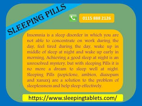Sleep effectively with Sleeping Pills | Solution of Sleeping Disorder (Insomnia) | Scoop.it