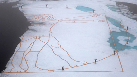 SHFT | Da Vinci Work Recreated on Melting Arctic Ice | Sustain Our Earth | Scoop.it