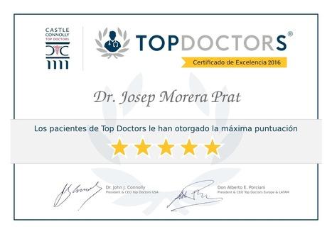 Certificado de excelencia TOP DOCTORS | Dr. Josep Morera Prat - Neumólogo | Scoop.it