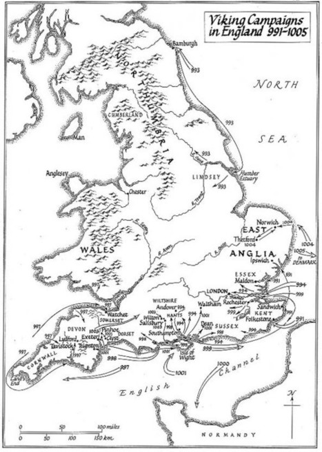Maps Illustrating the Viking Invasions of England   Scandinavian runic inscriptions in Viking Britain and Ireland   Scoop.it