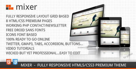 Share free HTML template - Mixer - Responsive Creative | Share code web | Scoop.it