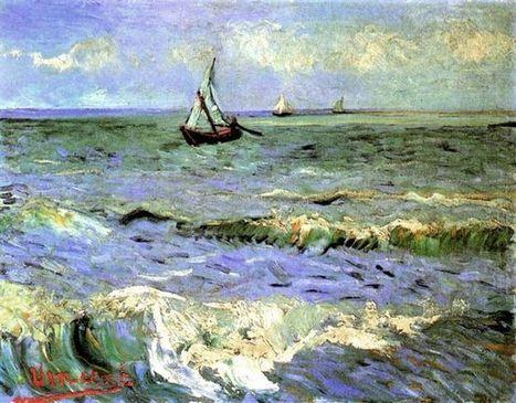 Paisaje marino en Saintes Maries 1888 - Pintura al óleo | Landscapes oil paintings | Scoop.it