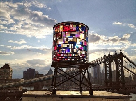 Stained Glass Watertower Sparkles Along Brooklyn's Skyline - My Modern Metropolis | Design Love | Scoop.it