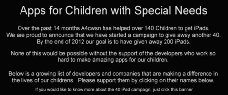Special Education Apps | Best iPad Apps for Kids | Educational iPad Apps - A4CWSN.com | Technology supporting Special Needs in the Classroom | Scoop.it