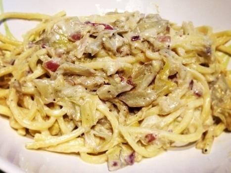 Spaghetti alla chitarra con carciofi – Ricette Vegan – Vegane ... | ricette della tradizione | Scoop.it