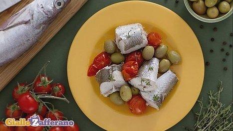 Ricetta Merluzzo al vapore con olive verdi e pomodorini - Le Ricette di GialloZafferano.it   Gusto e Passione   Scoop.it