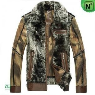 Mens Shearling Lamb Fur Jacket CW868004 | Men's | Scoop.it