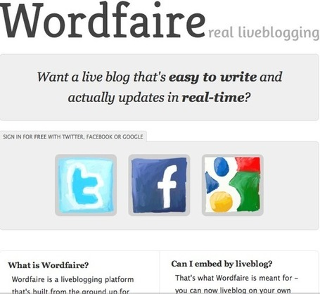 Wordfaire : The fast and easy live blogging platform | The *Official AndreasCY* Daily Magazine | Scoop.it