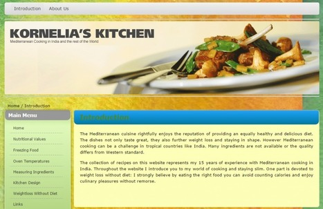 Mediterranean Cooking in Kornelia's Kitchen | Promote4you | Scoop.it