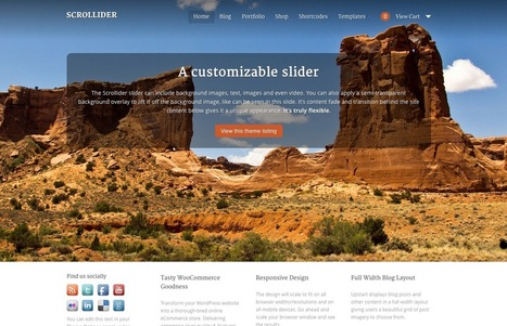 Download Scrollider WooThemes Theme | WooCommerce | Scoop.it