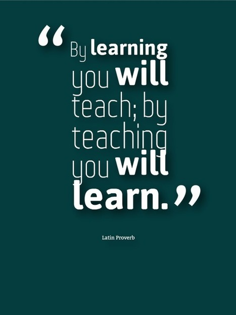 Why It's Important To Teach And Learn - Edudemic | ciberpocket | Scoop.it