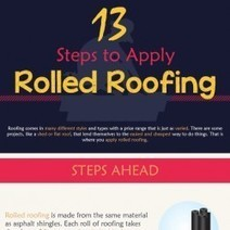 13 Steps to Apply Rolled Roofing | Visual.ly | Roofing Infographics | Scoop.it