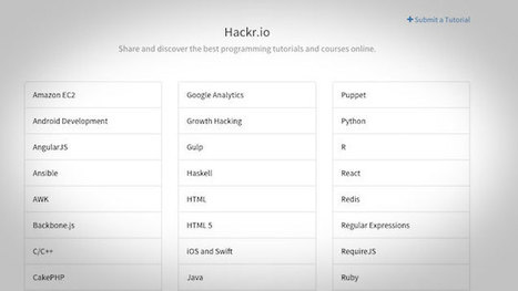 Hackr.io Is a Crowd-Sourced Resource of Programming Classes | Asp.Net | Scoop.it