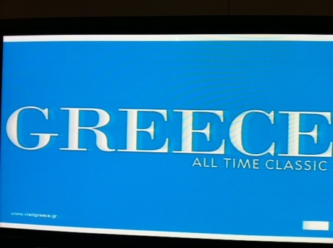 """The new logotype of GNTO 'Greece All Time Classic"""" presented @WTM_London 