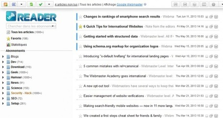 InoReader : La réelle alternative à Google Reader | Webmarketing - Referencement SEO - SEA - SMO | Scoop.it