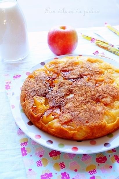 Gâteau à la poêle aux pommes | Recette Dessert Gâteau & Cake | Scoop.it