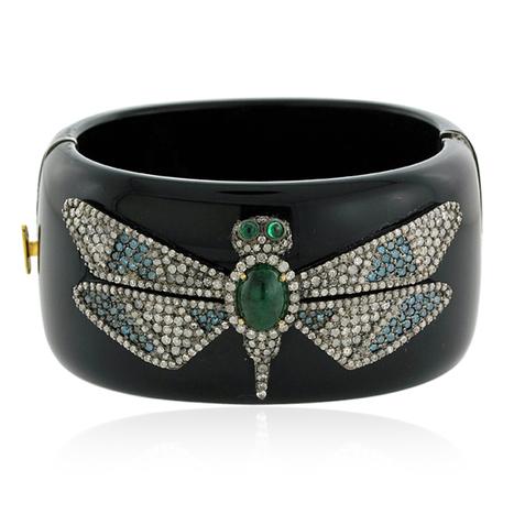 Diamond Dragonfly Bakelite Bangle | Gemstone Jewelry | GemcoDesigns | Pave Diamond Bangle | Diamond Jewelry | GemcoDesigns | Scoop.it