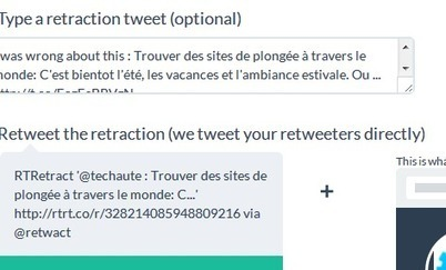 Modifier les tweets retweetés grace à Retwact | Applications du Net | Scoop.it