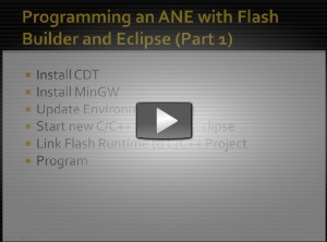 Creating a Windows AIR Native Extension with Eclipse – Part 1 | Everything about Flash | Scoop.it