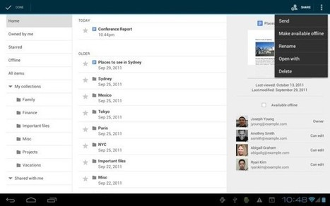 Google Docs for Android updates: adds offline support, better tablet experience | Do The Robot | Scoop.it