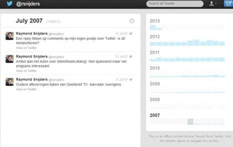 Downloaden van je eigen Twitter archief - Vakblog | Nieuwe Blogs | Scoop.it