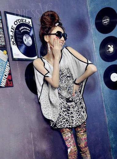 Popular Loose Round Neckline Short Sleeves Blouse | Dressve fashion | Scoop.it