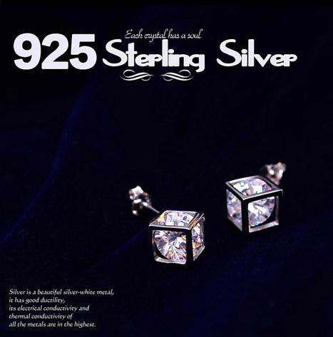Hollowed Rubik's cube shaped Swarovski Element Crystal Earrings | Women's Earrings | Scoop.it