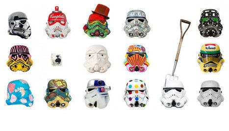 Renowned artists reinterpret stormtrooper helmets for art wars | GeekGasm | Scoop.it