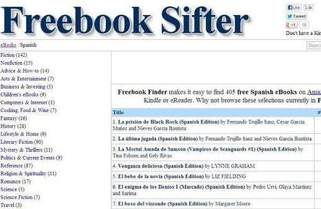 Freebook Sifter, directorio con más de 35.000 libros gratuitos para Kindle | Las TIC y la Educación | Scoop.it