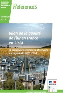 Publication du bilan 2014 de la qualité de l'air en France | Nouveaux paradigmes | Scoop.it