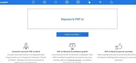 SmallPdf. Convertir un fichier Pdf en Word | Education et Technologies | Scoop.it