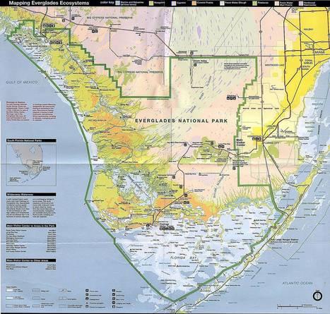 Mapa en escala del Parque Nacional Everglades   Parque Nacional Everglades de Florida USA   Scoop.it