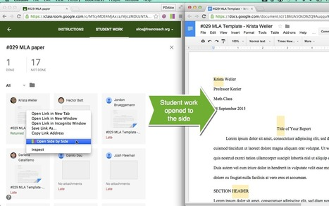 Google Classroom: Feedback Faster with Chrome Extension Open Side by Side | Technology in Today's Classroom | Scoop.it