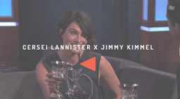 Cersei Lannister apprend à Jimmy Kimmel comment boire en étant bad ass | VIDEOS | Scoop.it