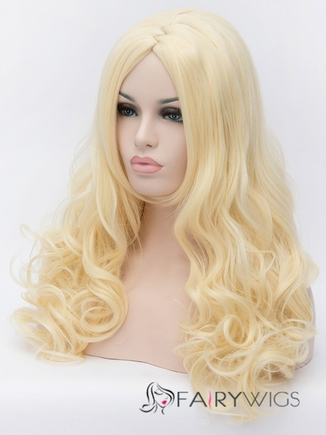 Wholesale 21 Inch Capless Wavy Blode Color Synthetic Hair Costume Wigs : fairywigs.com | Synthetic Hair Wigs | Scoop.it