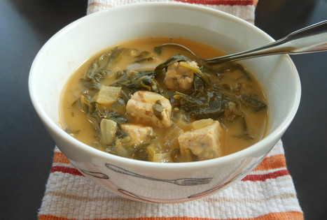 Vegan Tempeh and Turnip Green Soup   My Vegan recipes   Scoop.it