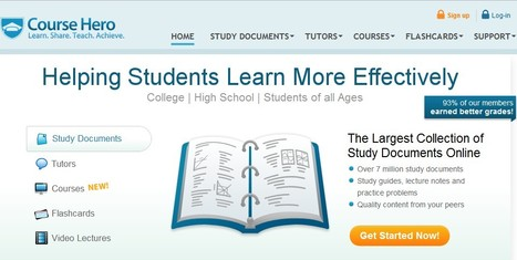 Curate Custom Video Learning Courses with Course Hero | 21st Century Tools for Teaching-People and Learners | Scoop.it