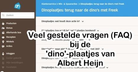 Edu-Curator: AH Dino's heeft een lijst met 'Veelgestelde vragen'! | ICT Nieuws | Scoop.it