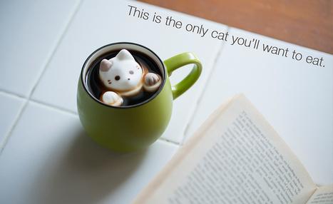 Les chat-mallows à glisser dans son chocolat chaud | What makes Japan unique | Scoop.it