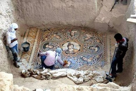 Beautiful 2,200-year-old mosaics discovered in ancient Greek city | Visit Ancient Greece | Scoop.it