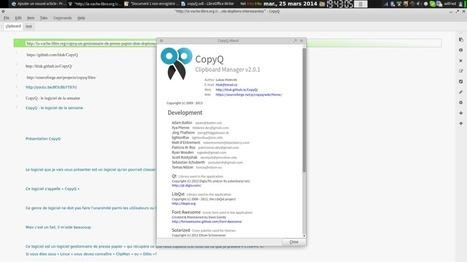 CopyQ : le logiciel opensource de la semaine | Présentation de logiciels libre et open source | Actu sur les logiciels opensource | Scoop.it