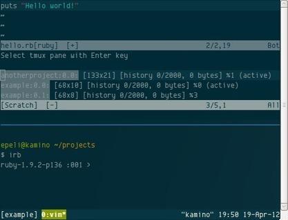 Slimux - tmux Plugin for Vim - Esa-Matti Suuronen | My Ubuntu | Scoop.it