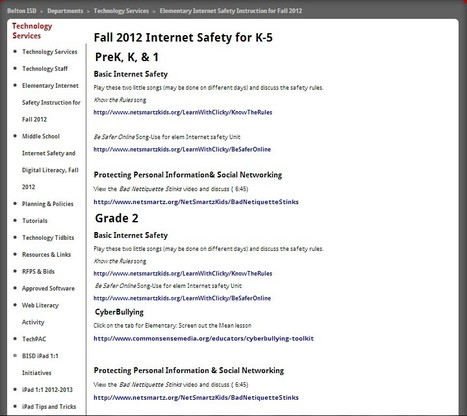 Elementary Internet Safety Instruction | Better teaching, more learning | Scoop.it