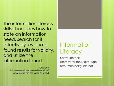 Wonderful Mini-posters on The 21st century Literacies ~ Educational Technology and Mobile Learning | Developing effective online research skills | Scoop.it