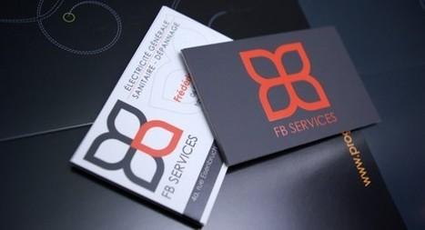Cartes de visite FB SERVICES   Progeka – Agence de Communication   carte de visite mania   Scoop.it