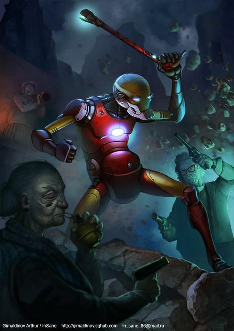 Old Iron Man by gimaldinov - Arthur Gimaldinov - CGHUB | MyCinema | Scoop.it