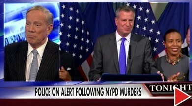 """Fmr NY Gov #Pataki Has Strong Words for Obama; """"Holder & de Blasio helped create that climate, """"called out mayor for not condemning #anti-police protesters in NYC who called for """"dead cops.""""' 